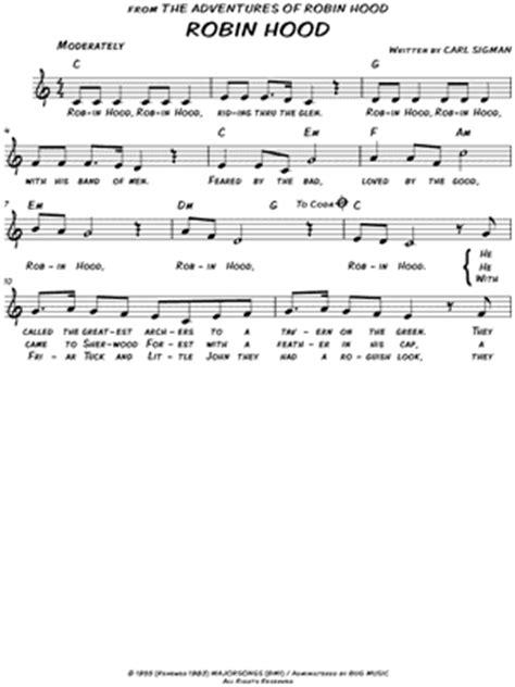 theme music robin hood robin hood sheet music to download and print world
