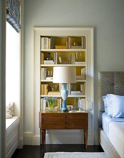 recessed bookcases in bedroom home inside space