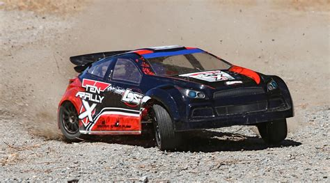Rc Rally Auto 1 10 by Losi 1 10 Ten Rally X 4wd Rc Rally Car Rtr With Avc