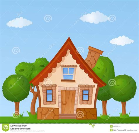 tiny house cartoon cartoon house stock illustration image of childish