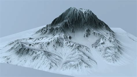 mountain models 3d model snow mountain vr ar low poly cgtrader com