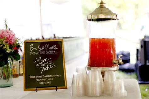 wedding trend signature drinks