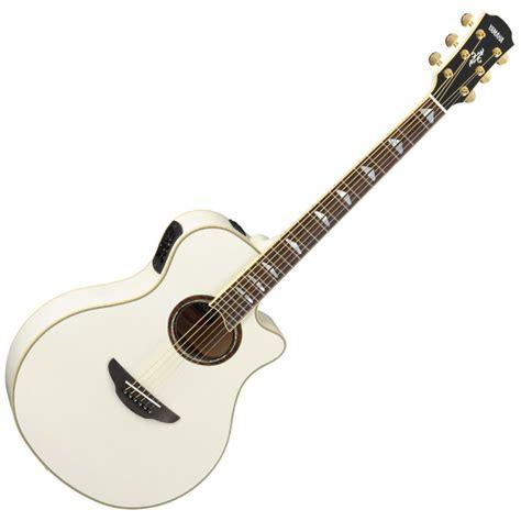 imagenes guitarras blancas yamaha apx1000 electro acoustic guitar white at
