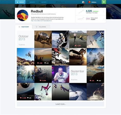 Web Design Instagram | this design concept showcases instagram for businesses