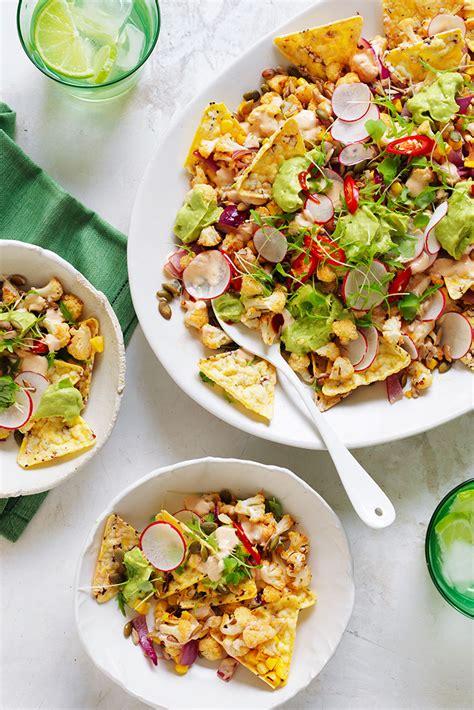 nacho recipe cauliflower easy chilli and lime roasted cauliflower nachos