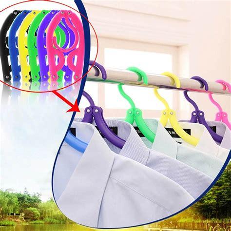 Terbaik Hanger Lipat Portable Gantungan Baju Gantungan Jemuran gantungan baju travel lipat multi color jakartanotebook