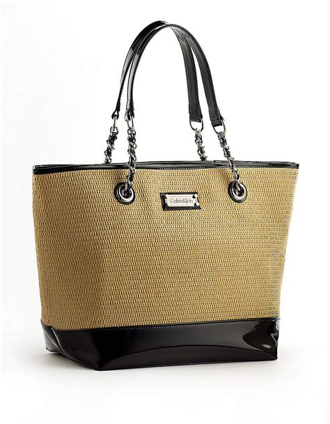 St Tropez Tote by Lyst Calvin Klein St Tropez Large Straw Tote In