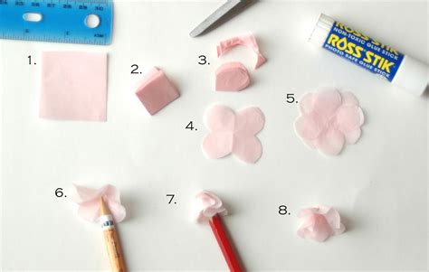 How To Make Cherry Blossoms Out Of Paper - pikadilly charm tissue paper cherry blossom tree