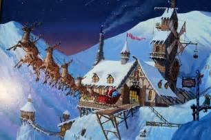 Santa claus north pole 9 background wallpaper hivewallpaper com