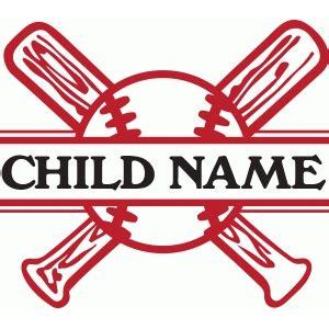 baseball names silhouette design store view design 78464 split baseball name plate