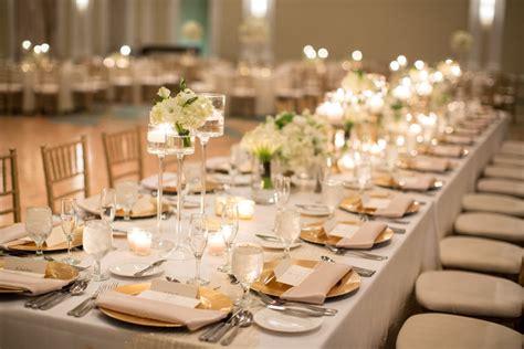 gold ivory wedding reception elizabeth designs the wedding