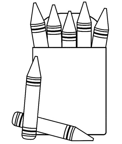 Free Coloring Pages Of Crayon Box Crayon Coloring Pages Printable