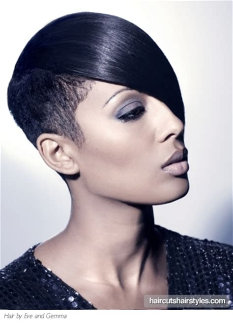 black hair with shafed sides short black hair shaved sides long bangs hairstyles