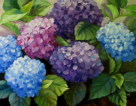 acrylic painting hydrangea nel s everyday painting 4 21 13 4 28 13
