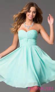 short strapless sweetheart prom dress promgirl