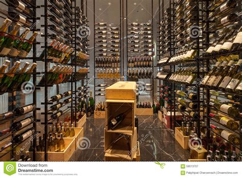 modern wine shop at bangkok marriott hotel sukhumvit