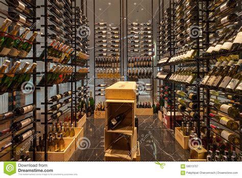 modern wine shop at bangkok marriott hotel sukhumvit