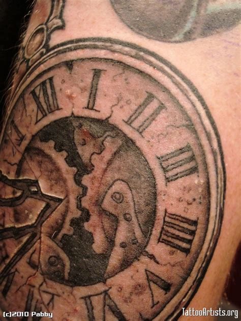 timepiece tattoos pocket timepiece numerals cogs exposed