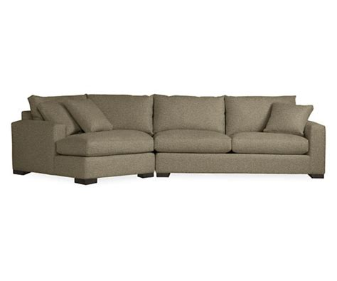 room and board metro sofa metro sofas with angled chaise