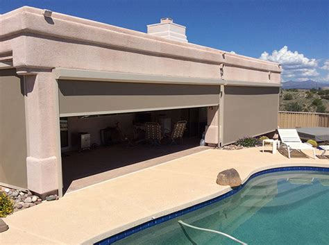 Outdoor Patio Pull Shades by Sun Shades Shading Tx