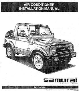 service manual auto air conditioning repair 1987 suzuki swift engine control suzuki swift dx repair manuals suzuki samurai 1992 air conditioner installation manual