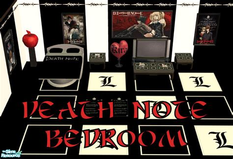 sims 4 death note cc ses death note bedroom