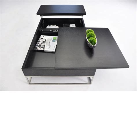 Contemporary Black Coffee Table Dreamfurniture P209a Modern Black Coffee Table