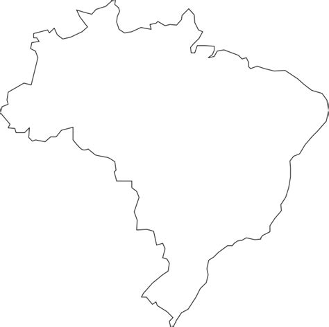 coloring page map of brazil nferraz brazilian map clip art at clker com vector clip