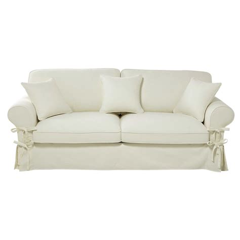 Ivory Sofa Bed by 3 4 Seater Cotton Sofa Bed In Ivory Mattress 6 Cm