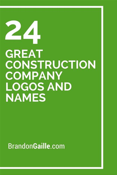 best name company best 20 construction company names ideas on