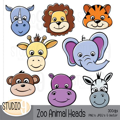 free printable zoo animal clipart baby animal clipart cute zebra head pencil and in color