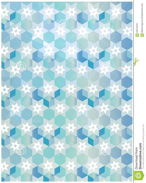 snowflake geometric pattern abstract geometric snowflakes pattern blue