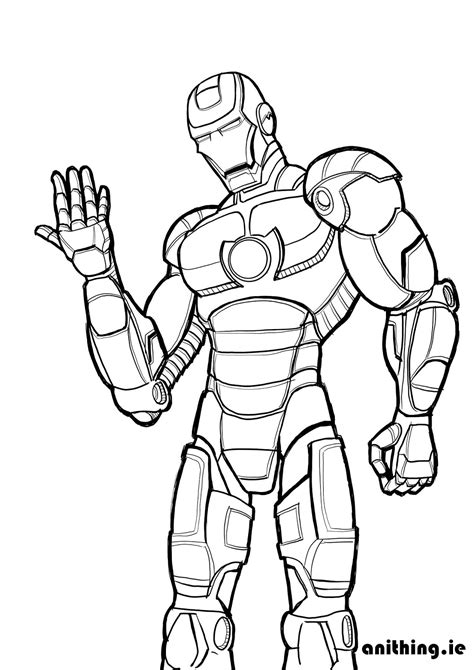 coloring pages of iron man 2 iron spider coloring pages