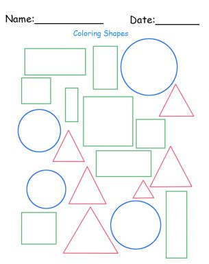 printable different shapes free printable different shapes worksheet