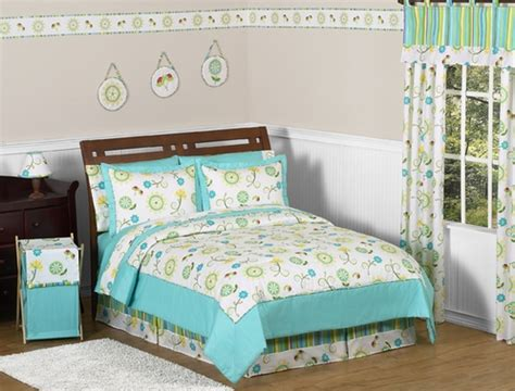 girls full comforter set or teen queen bedding reversible turquoise and lime layla girls kids teen bedding 3pc