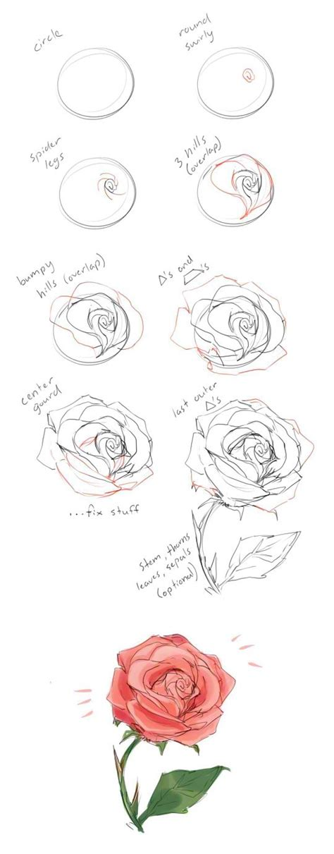 roses tutorial how to draw a tutorial by cherrimut on