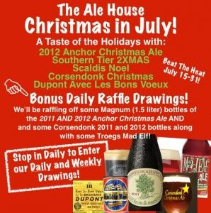 ale house vestal christmas in july the ale house brew central