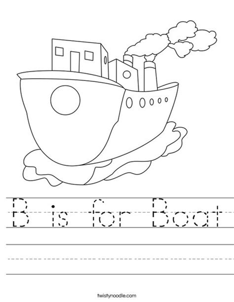 types of boats with 8 letters b is for boat worksheet twisty noodle