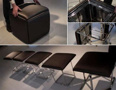 cube 5 in 1 ottoman space saving chair 5 chairs in one cube resource furniture smart