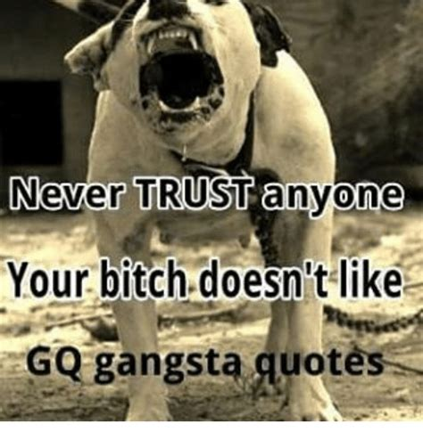 gangster quotes about trust