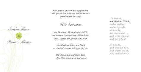 Hochzeitseinladung Mustertext by Fotokarte Hochzeitseinladung Mit Kleeblatt Gl 252 Cksbringer