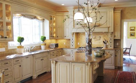 decorative kitchen ideas terrific country kitchen decor with broken white cabinets and island combined with gold