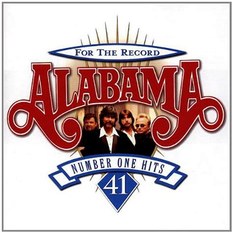 alabama country music greatest hits for the record 41 number one hits by alabama album cover