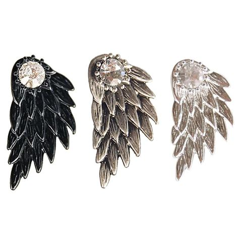 Rhinestone Wing Earrings wings rhinestone stud earrings pluto99