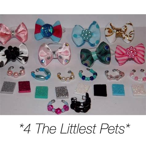 Pet Accessories littlest pet shop accessories lps clothes 2bow 2collar 2