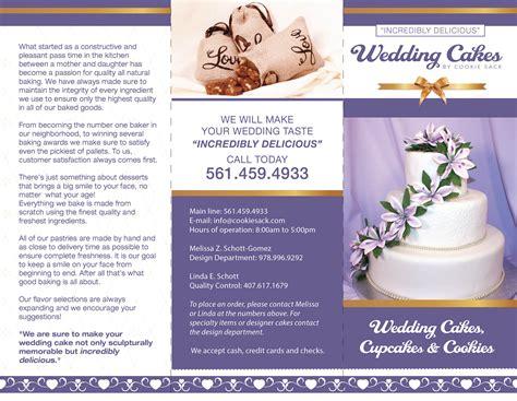 Wedding Cake Brochure brochure design impakt print and design