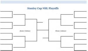 Empty Bracket Template by Printable Blank Pdf Nhl Hockey Playoffs Stanley Cup