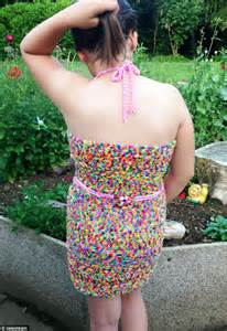 dress made from 24k loom bands sells on ebay for 170k the dress is made from 163 90 worth of loom bands but abigail