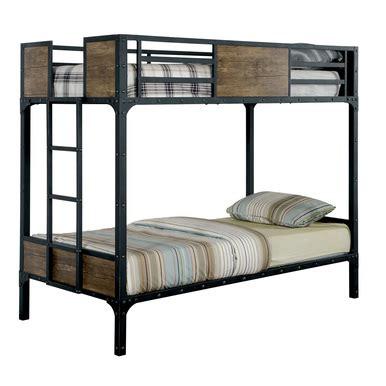 bunk beds austin austin industrial inspired metal twin bunk bed