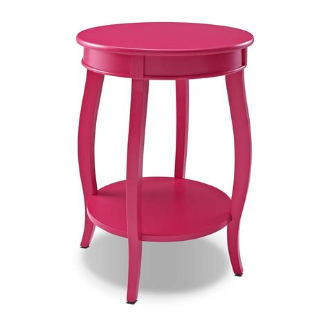 Pink Accent Table Sydney Accent Table Pink American Signature Furniture